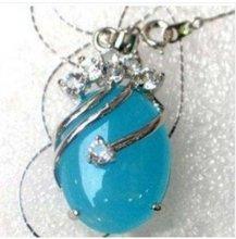 3 PC Beautiful jade pendant necklace woman's very good free shipping(China (Mainland))