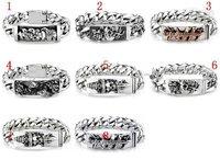 men's bracelet newest jewelry Men's silver Bracelets ,popular bracelets 5pcs bangles with box