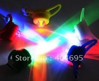 Free shipping+ 50pcs bike wheel Lights / silicone gel light / bicycle warning lights / helmet lamp