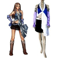 Final Fantasy Xii Yuna Lenne Song Cosplay Costume+Free Shipping