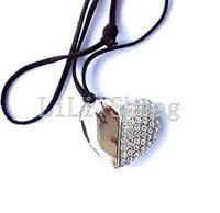 Free Shipping Guaranteed Full Capacity Crystal Heart of Love USB Flash Memory Drive,Model:UD19