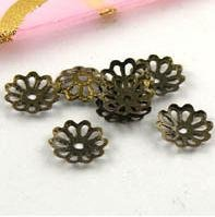 free ship 1000pcs/bag  bronze plated bead caps 6mm