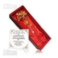 2011 Valentine`s Day gift Brand New 24K Gold Plated Rose 999 gold roses/rose flower Lovely 1pcs