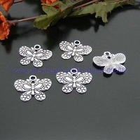 25*21 mm 1.3g butterfly charms tibetan silver charms,jewelry pendant  findings jewelry accessories free shipping 300pcs/lot