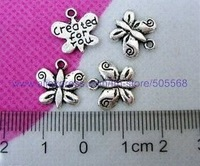 16*16 mm 0.95g  fashion butterfly charms tibetan silver charms,jewelry findings jewelry accessories free shipping 200pcs/lot