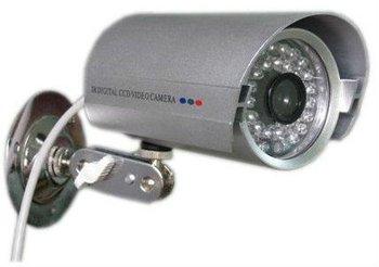 wholesale price 1/4' Sharp 420TVL Waterproof CCD Color CCTV Camera With 36 (0.5) LED IR illuminators Freeshipping