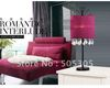 Free Shipping Modern Cloth And Iron Table Lamp For Bedroom, Saloon, etc.(Pink Color)ETL5087