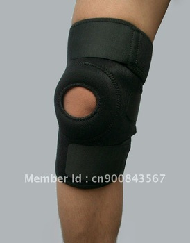 Free shipping hot selling NEOPRENE Knee pad , knee support ,knee guard (black)