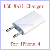 EU USB Wall Travel Charger for iPhone 4 4G 4S Charger