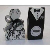 GAGA ! free shipping bride and groom box wedding favor box candy box FL776