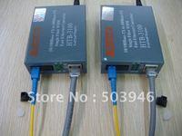 SM Single-fiber 25 km SC Fiber Media Converters ,free shipping