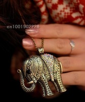 Vintage elephant necklace fashion jewelry sweater necklace 20pcs/lot+Free shipping