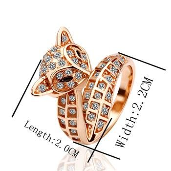 18k gp ring 18 k ring free shipping fashion fox ring jewelry 18k yellow gold ring jewellry