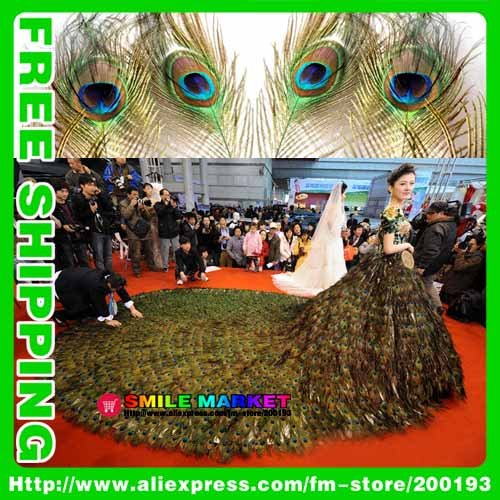 Free shipping FEDEX/DHL new arrival top quality 100pcs/lot length 60-70cm eye-width3cm beautiful natural peacock feather(China (Mainland))