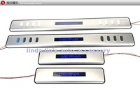 2010-2011 Hyundai Verna / Solaris Stainless Steel Scuff Plate / Door Sill  with led light high quality(EMS USP DHL)