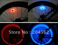 Free shipping/Mini Silicone spokes Wheels light /Bicycle Wheels LED light, Fireflys Flash Valve Sealing Cap