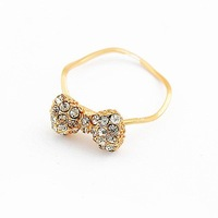 fashion aureate bowknot ring