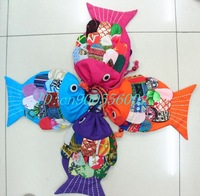 FREE SHIPPING! Handmade Fish Bag/Handmade craft Fish bag/kids satchel purse/gift bag