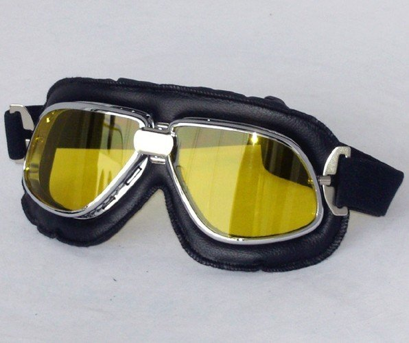free shipping (1pcs) helmet goggle motorcycle goggle vintage pilot biker goggle wholesale and retail