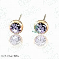 1Pcs/Lot,Free shipping ,18K Gold Plated Crystal Flower Earring