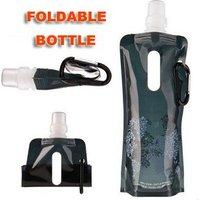 Hot sale 100% guaranteed 6 color 480LM New PE foldable water bottle,foldable sport bottle 50pcs/lot+Fulfillment shipping