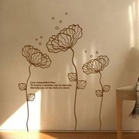 Free Shipping Wholesale And Retail Home Garden Wall Decor Sticker Decoration Vinyl Removeable Art Mural Home decor h-13