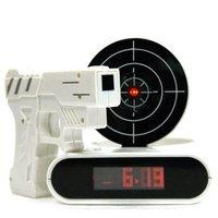 Hot sale  Novelty Digital alarm Clock,Gun clocks 12pcs/lot+EMS Free shipping