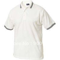 free shipping 50PCS start supply mens white polo t-shirts