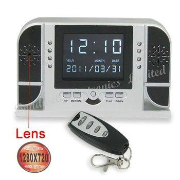 Multifunction IR Digital Clock DVR(Motion Detection,HD Hidden Camera(1280*720),Sound-Control,Remote Control),Free UPS DHL EMS