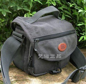 High-quality Men's shoulder bag waterproof canvas Camera bag thick canvas Messenger bag 760-2 grey