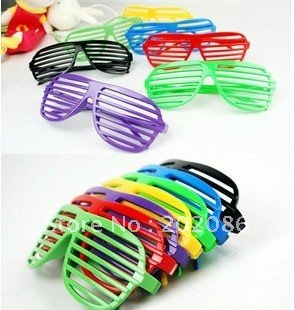 Wholesale Colorful shutter Glasses Party supplier glass blinds Party glasses window shade sunglasses 100pcs/lot free shipping(China (Mainland))
