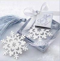Free shipping to Australia.50/lot wedding gift of Snowflake shape bookmark
