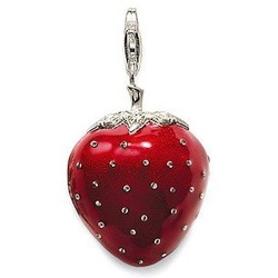 New! Wholesale Free shipping 925 sterling silver / beautiful / 925 silver strawberry pendant charm TS95(China (Mainland))