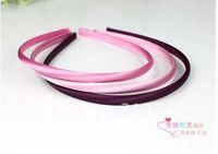 Free Shipping satin plastic headband hair wrap