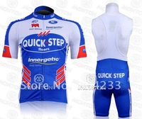 FREE SHIPPING! 2011 Quick step CYCLING JERSEY AND BIB SHORTS,WHOLESALE AND RETAIL