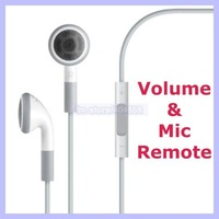 stereo Earphone with Mic & Volume Control For iPhone 3gs 4g 4s 5g iPod