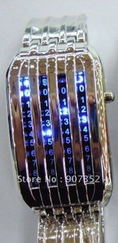 Fashion 44 LED lamp cold light electronic watches, meteor design,free shipping