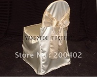 ivory  satin  Chair Cover/banquet chair cover/wedding chair cover