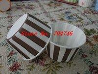 900pcs medium Cupcakes round muffin paper cake cup cake case with Gray stripes,  5cm*3.9cm*6.5cm