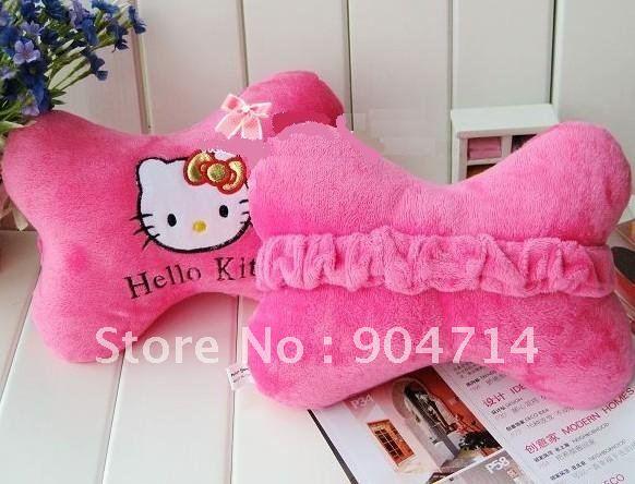 OLÁ KITTY pelúcia cartoon brinquedos / gatinho travesseiro almofada / gatinho osso carro / Olá Kitty carro pescoço travesseiro(China (Mainland))