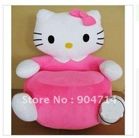 HELLO KITTY cartoon plush toys/kitty cushion/(L) pink kitty cat / HELLO KITTY sofa/beanbag /kitty cat version sofa
