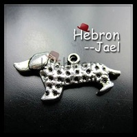 Free shipping(100pieces)Silver Plated Dog Pendant(162#)wholesale and retail