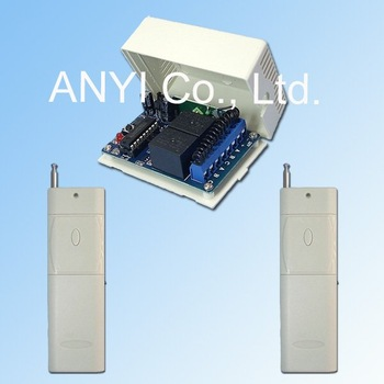 Wholesale 2CH DC12V 1000M Remote Control Distance RF 315MHz Wireless Remote Control Switch System+Free shipping