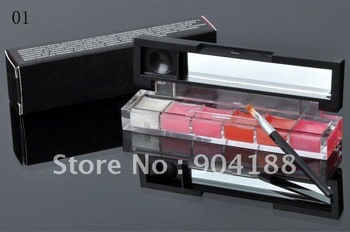 free shipping Hot 2011 new cosmetics Women's sexy 6 color lipglass lip gloss 25pcs/lot