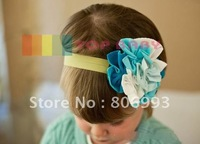 top baby blue and white hair flowers headbands