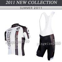 Free Shipping!! MEN'S 2011 NEW TEAM CYCLING+BIB SHORTS BIKE SETS CLOTHES SIZE:S-4XL& Wholesale/Retail