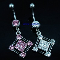 mixed colors wholesale navel belly ring,belly button rings,body piercing jewelry (JFB-7450)