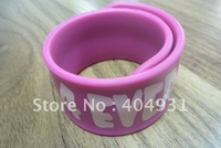 New Arrival Silicone Slap Bracelets With Various logo and Pattern