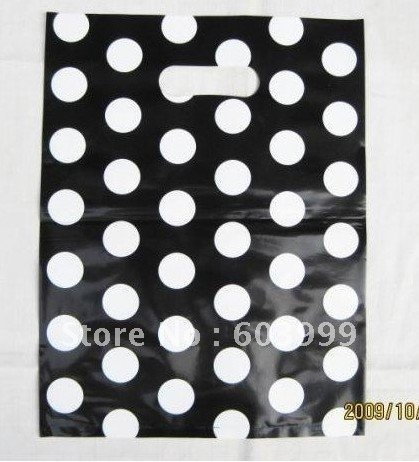 100pcs Halloween Treat Bags, Party Favor Bags, Polka Dot Loot Bags,candy bags,30x40cm,Free shipping(China (Mainland))