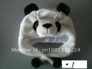 WINTER HAT 100 PCS/ Panda   LOT LOVELY PLUSH ANIMAL PARTY CARTOON